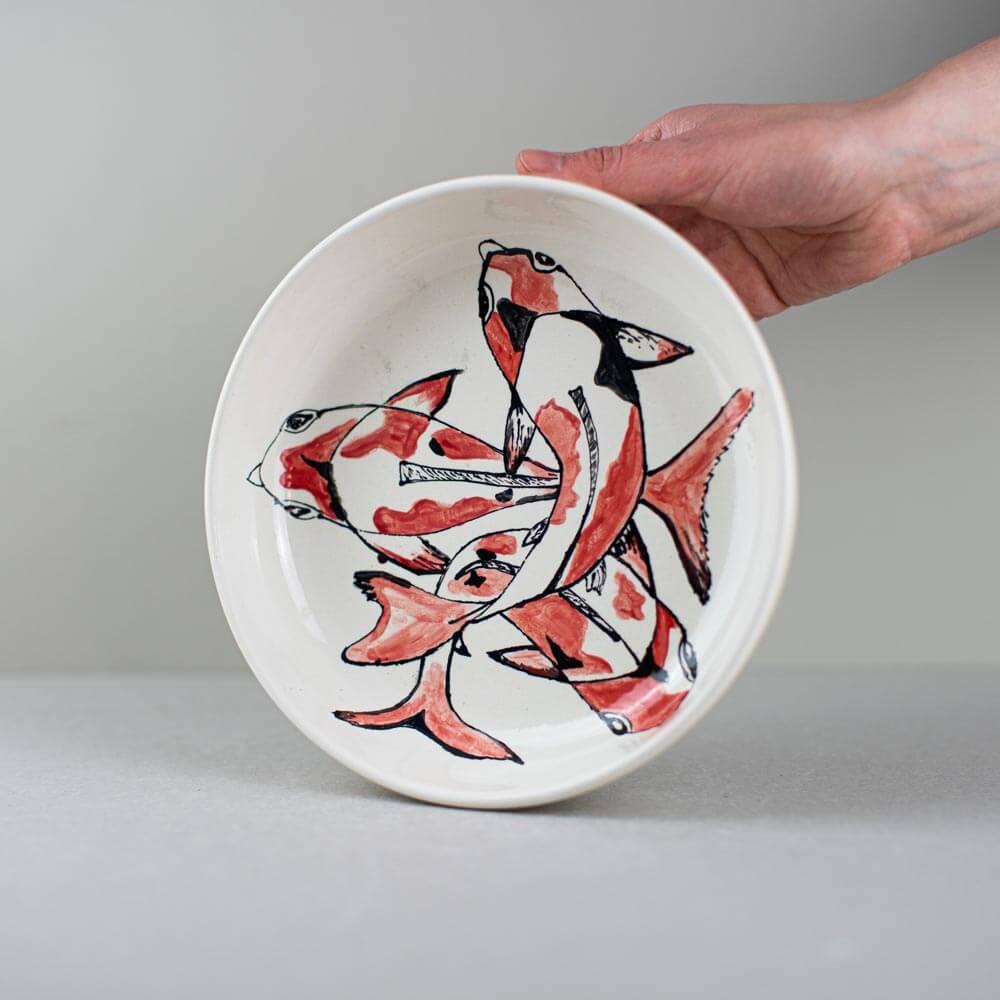 keramikpost-diskus-schale-koi