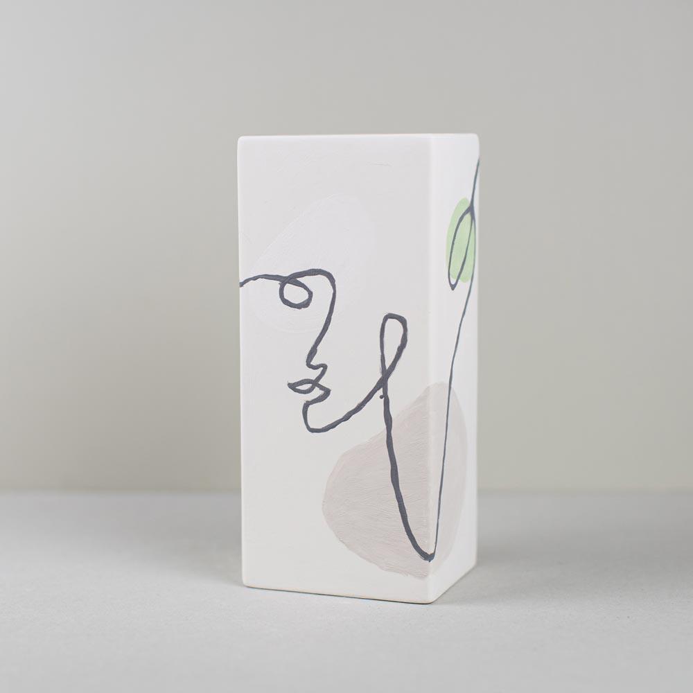 keramikpost-vase-viereck-vorher
